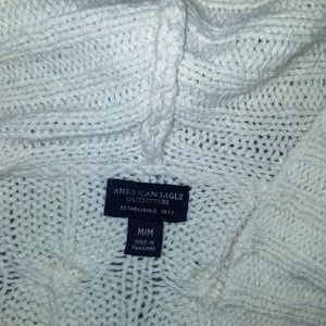 American eagle sweater cardigan with hood size med